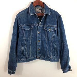 Diamond Double U Vintage Jean Jacket Xl Blue